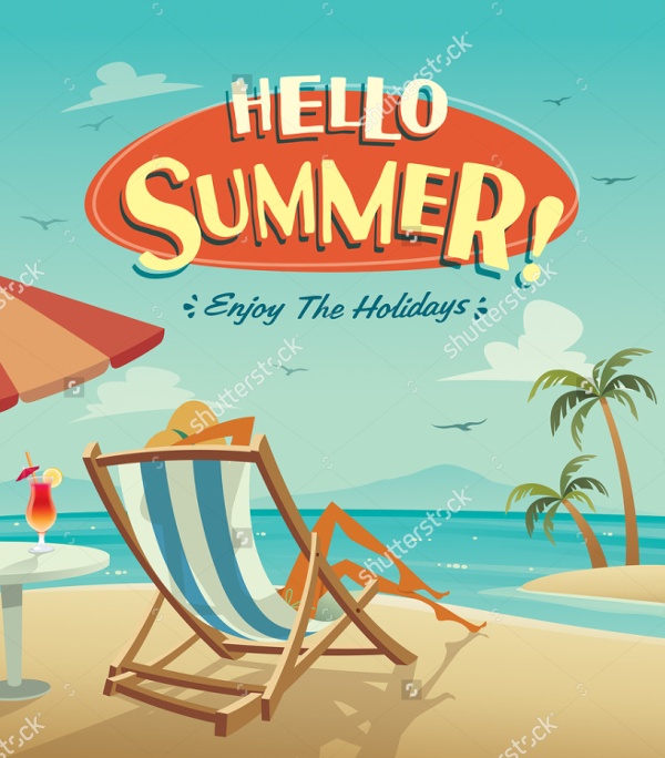 Hello Summer Poster Template
