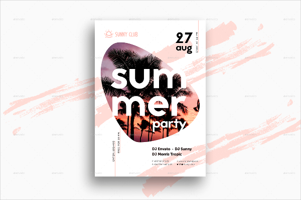 Summer Party Event Poster Template