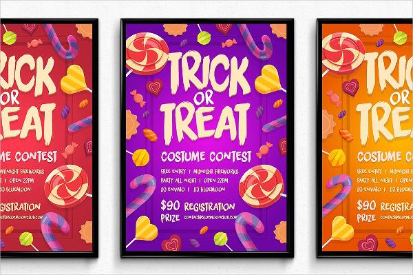 Summer Halloween Poster Templates