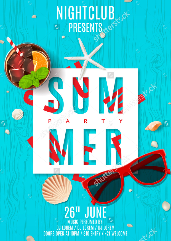 Summer Night Club Poster Template