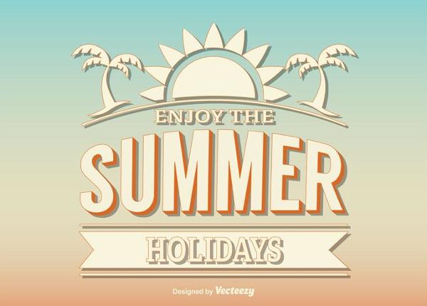 Free Retro Summer Design Poster Template