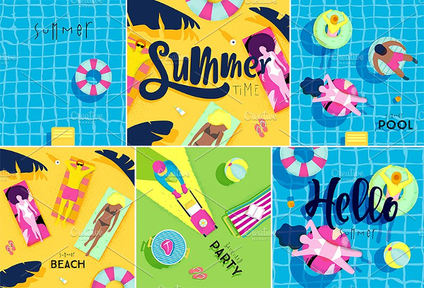 Summer Time Poster Templates Design