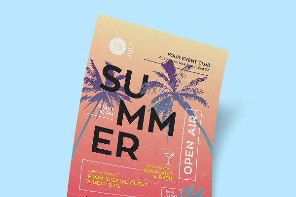 Unique Summer Poster Design Template