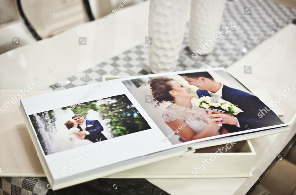 White Classic Wedding Album Book Design