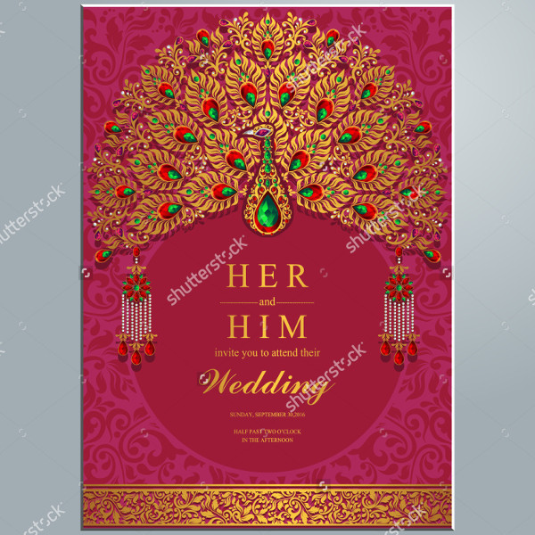 Wedding Abstract Card Invitations Background