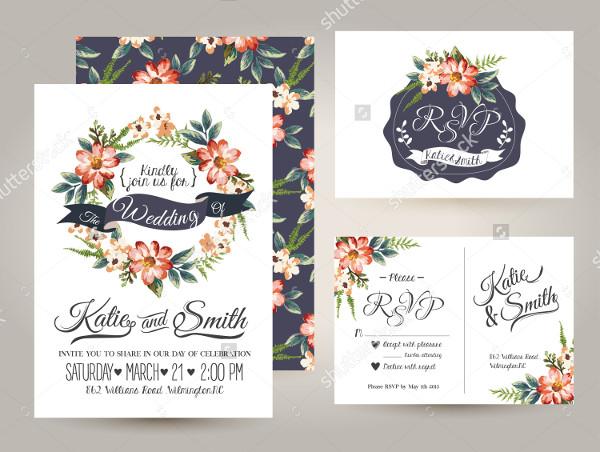 Wedding Daisy Flower Invitations Card