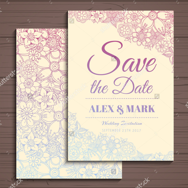 Wedding Flower Invitation Card Suite