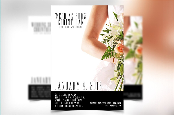 Clean Wedding Show Flyer Template
