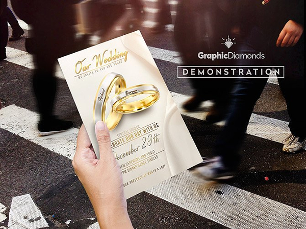 Unique Wedding Flyer PSD Template