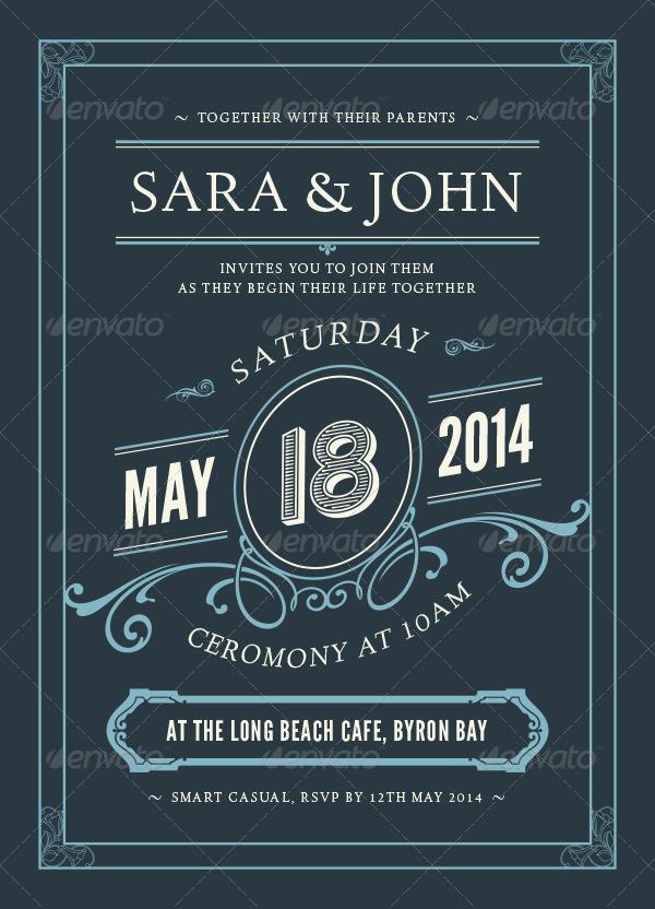Wedding Design Invitations Card Template