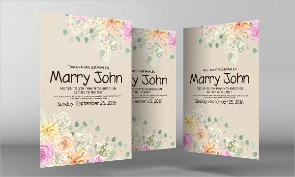 Wedding Invite Flyer Template