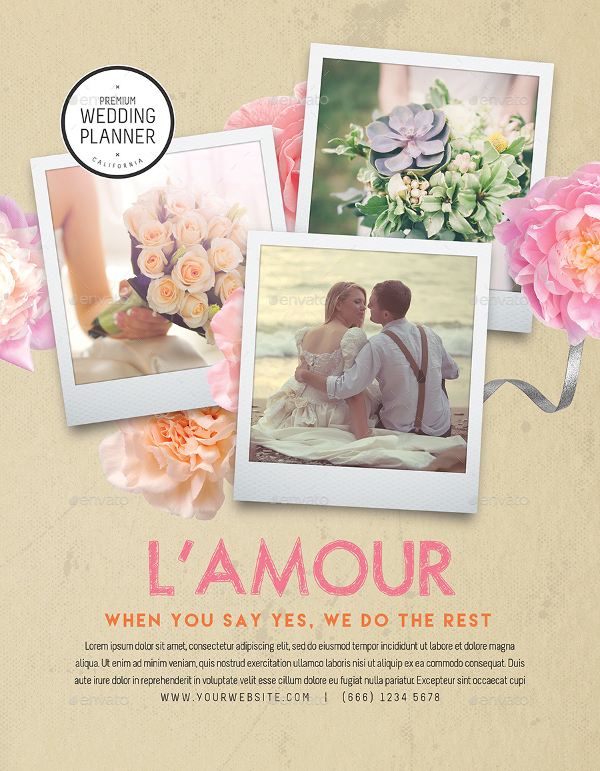 Wedding Organizer Flyer Template