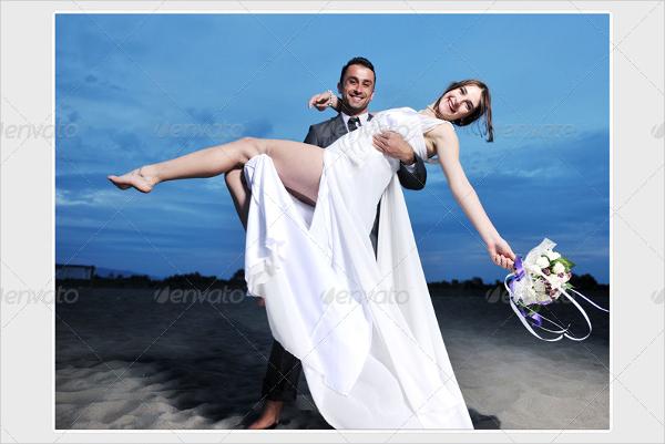Clean Wedding Photo Album Design