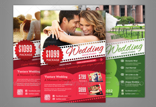 Wedding Movie Studio Flyer Template