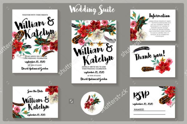 Printable Wedding Template Invitations