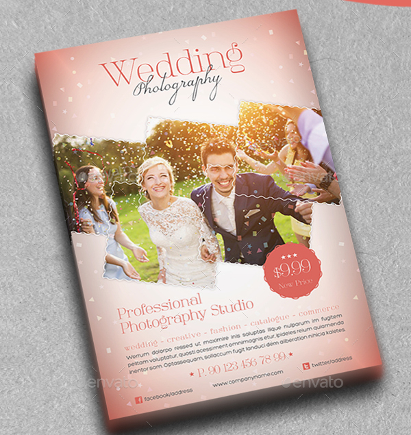 Wedding Photography Studio Flyer Template