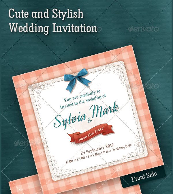Wedding Stylish Invitations Card