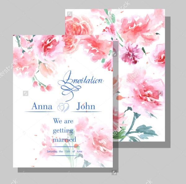 Wedding Wild Rose Invitations Card