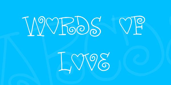 Romantic Words Love Font