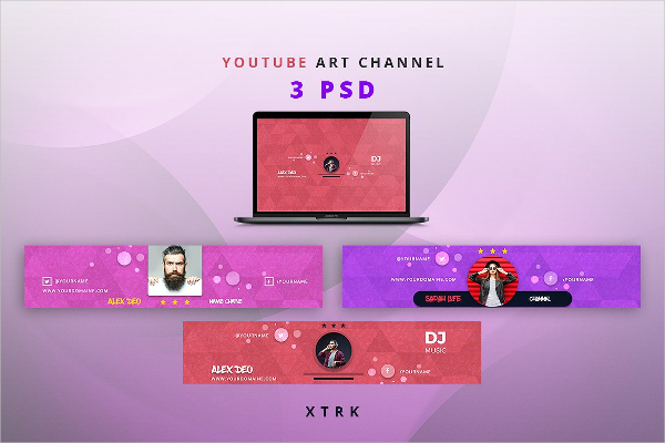 Youtube Art Channel Banners