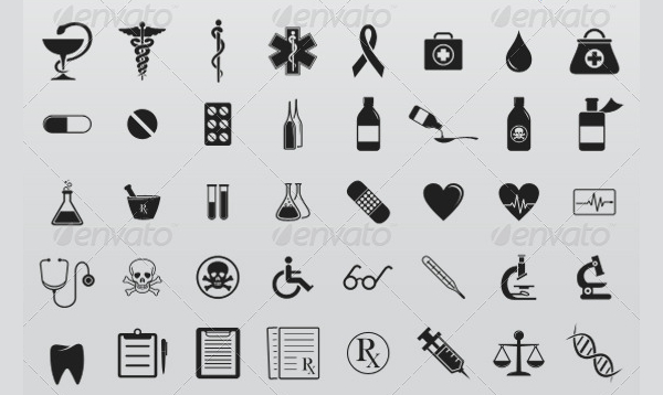 245 Medical Abstract Icons