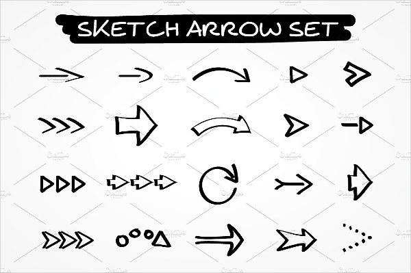 Vector Curved Arrow Icons Buttons