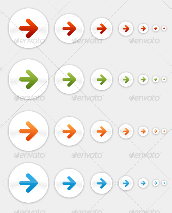 Minimal Arrow Cool Buttons Icons