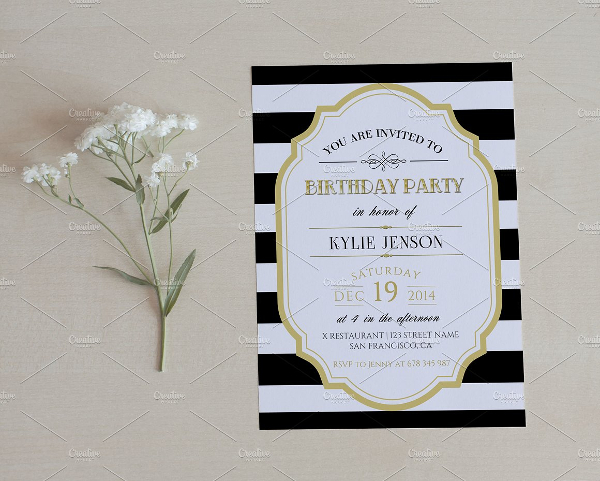 Clean Birthday Party Invitation Template