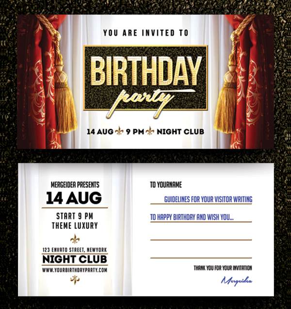 Perfect Birthday Party Invitation Template