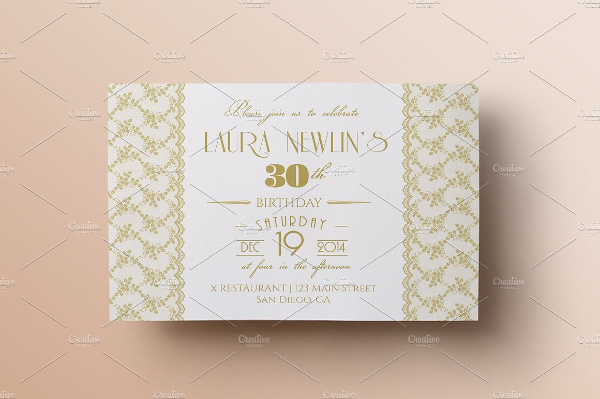 Lace Birthday Invitation Template