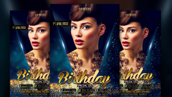 Birthday Party Flyer Templates