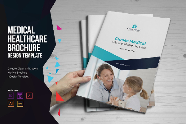 23 clinic brochure free premium psd png vector ai for Free medical brochure templates