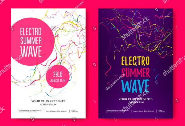 Electro Summer Wave Posters