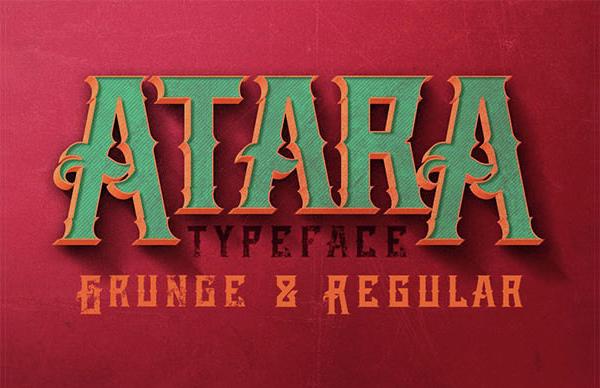 Atara Vintage Style Font