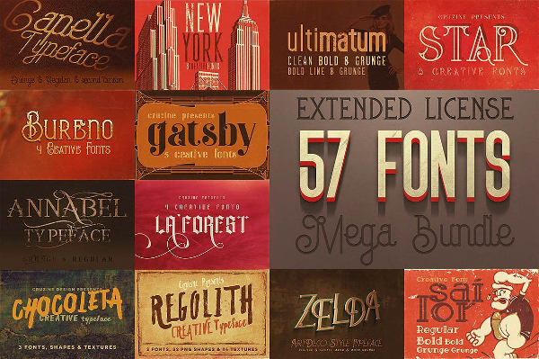 Cool Mega Bundle Fonts