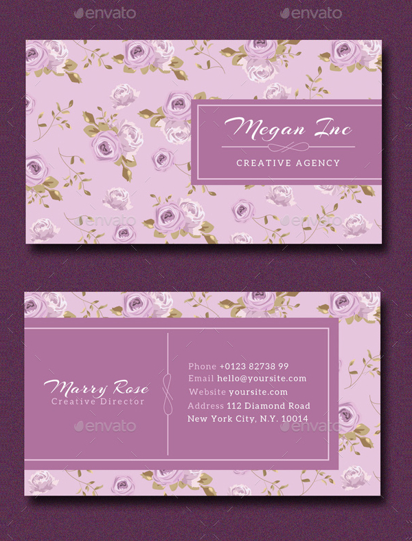 25 floral business cards free premium psd ai format download creative agency floral business card template fbccfo Images