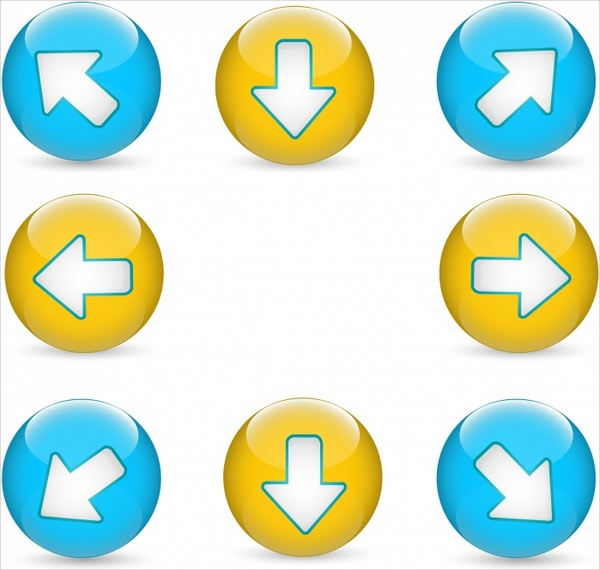 Free Download Arrow Colorful Buttons