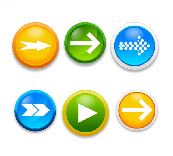 Free Vector Arrow Pointer Buttons