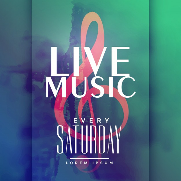 Live Music Club Event Poster Free