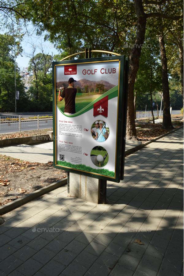 Golf Club Design Poster Template