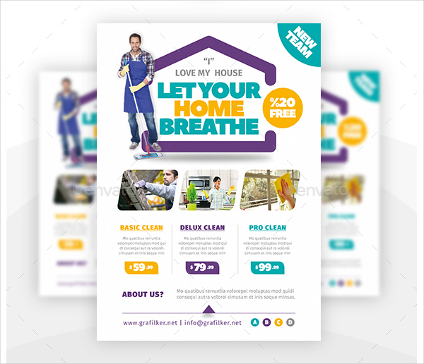 House Cleaning Flyers Free  Premium Download