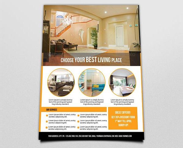 Interior Flyer Template for Interior Design Business