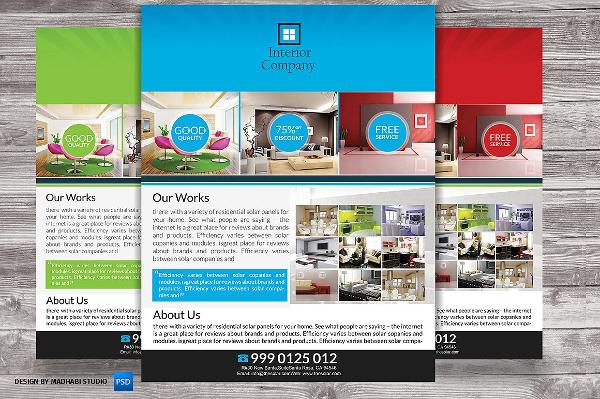 Perfect Interior Company Flyer Template