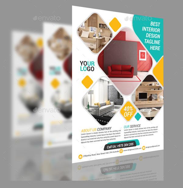 Elegant Interior Business Agent Flyer Template