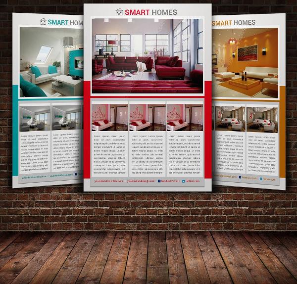 Customizable Interior Design Flyer Template