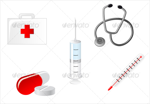 Medical Objects And Icons