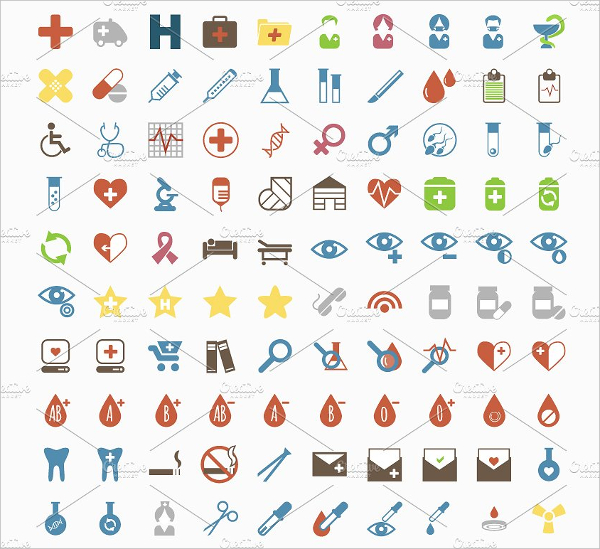 100 Simple Style Icons For Medical