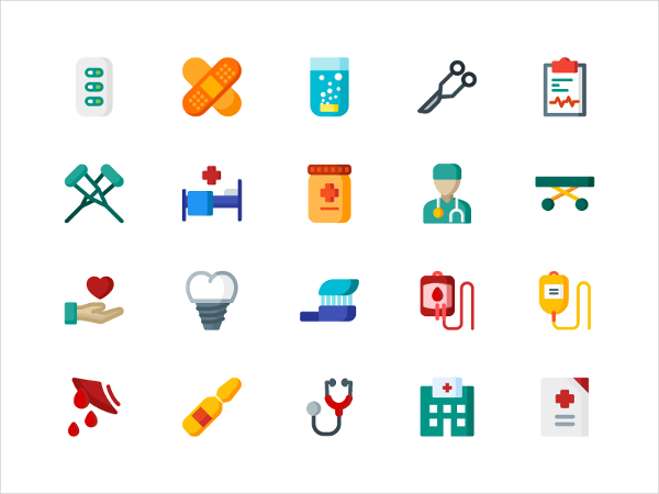 Clean Icons For Medical