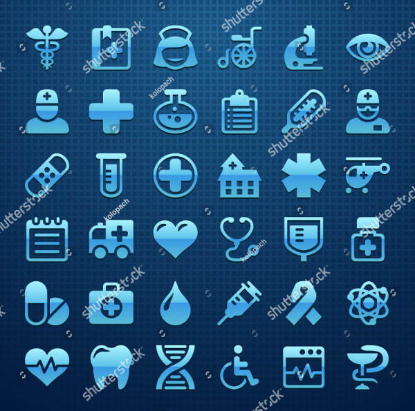 Attractive Medical Icons Set
