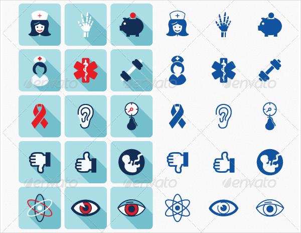 Medical Pharmacy Icons Set